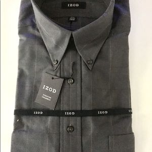 "NWT ""IZOD"" Men's Gray Dress Shirt"